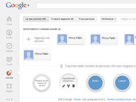 cerchie di google plus
